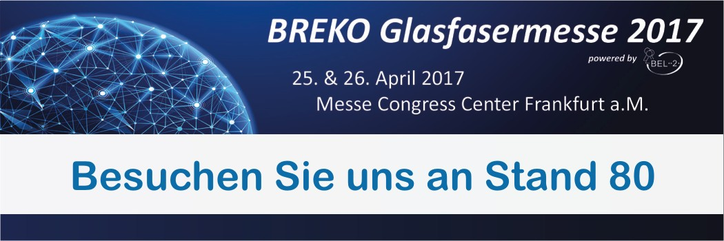 BREKO Glasfasermesse am 25./26. April 2017 in Frankfurt a.M.